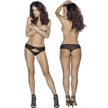 Roxana tanga S-M/fekete, díszítéssel
