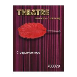 THEATRE - madártollas csiklandozó - vörös