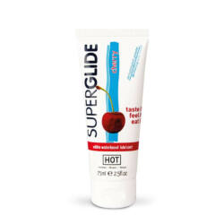 HOT Superglide edible lubricant waterbased - CHERRY 75 ml