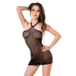 JOLI Falesia hálós ruha fekete S/M
