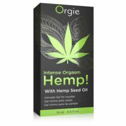 ORGIE HEMP INTENSE ORGASM - orgazmusfokozó gél - 15 ml