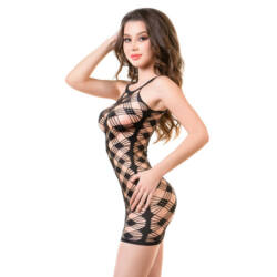 JOLI Perissa Fishnet ruha fekete S/M