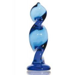 Sexus Glass Anális izgató , kék csavart üveg