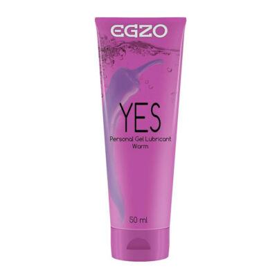 Egzo Yes Vízbázisú melegítő sikosító 50 ml
