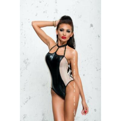 MeSeduce Odette szexi body, fekete-fehér L-XL