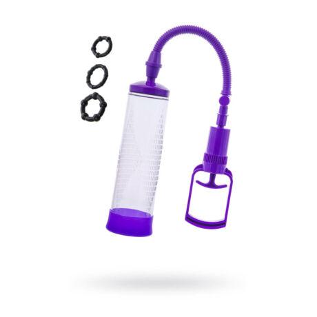 SEXUSMEN - vákuum kézi péniszpumpa + 3 db péniszgyűrű
