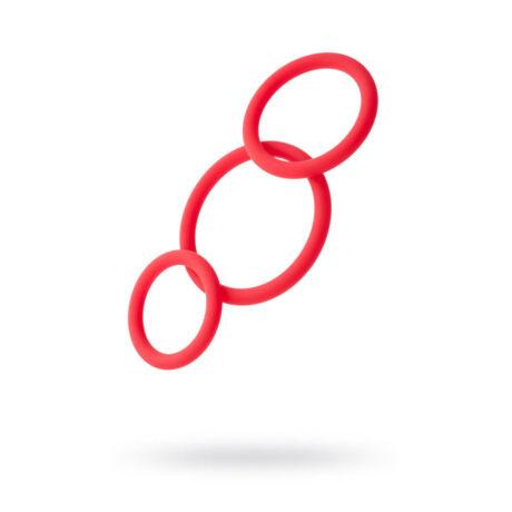 Black&Red Péniszgyűrű szett piros