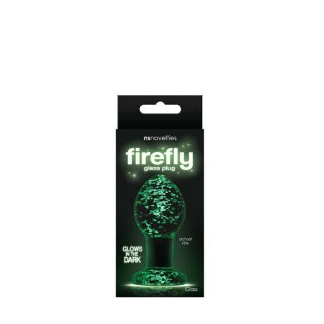 NS Toys - Firefly Glass Plug Medium Clear