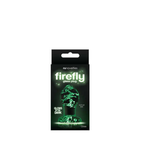 NS Toys - Firefly Glass Plug Small Clear