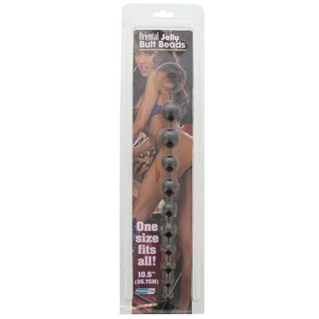 Nmc - Oriental Jelly Butt Beads 10.5 inch Black