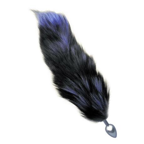 FOX TAIL - anális izgató - kék rókafarok dísszel