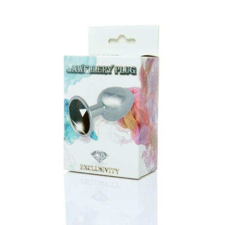 JAWELLERY - anális izgató - fekete/metál