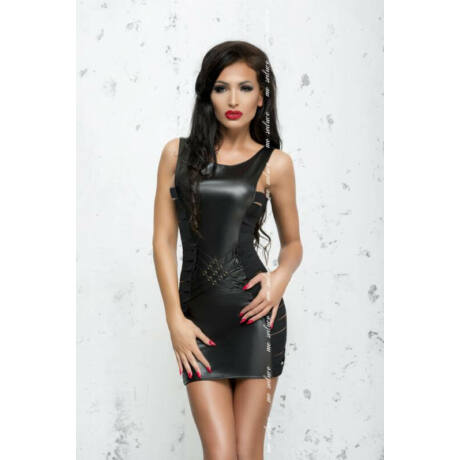 MeSeduce Lea mini szexi body, fekete L-XL